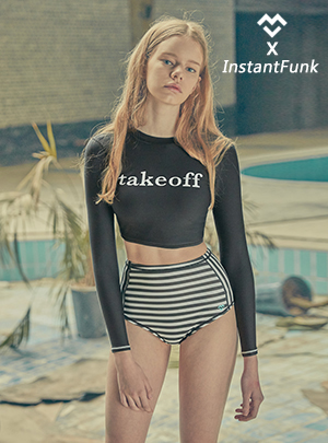 YXI CROP RASHGUARD-BLACK